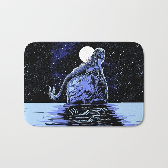 Mermaid Skull Bath Mat