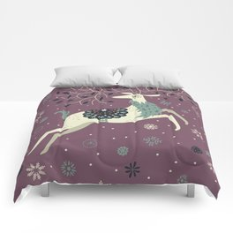 Prancing Reindeer Comforters
