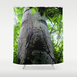 Watercolor Tree Kapok, Majestic Ent of the Caribbean Shower Curtain