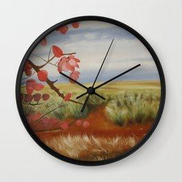 UpCountry Maui - Jacaranda tree branches and blooms Wall Clock