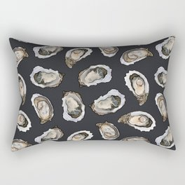 Oysters by the Dozen in Charcoal Rectangular Pillow