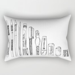 Pencil Case 2 - Artschool Rectangular Pillow