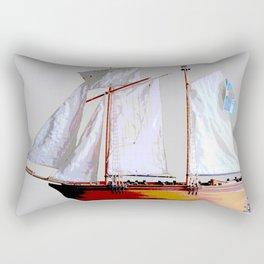 Sailing ship, abstract. Rectangular Pillow
