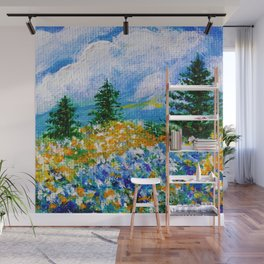 A Quiet Haven. Scenery. Nature Painting. Trees Wall Mural