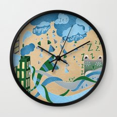It's Raining its pouring Wall Clock