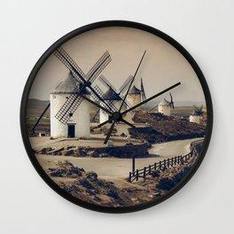 Mills of Don Quixote Wall Clock