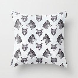 Mrs Fox Design B&W Throw Pillow