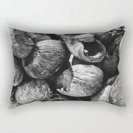 Coconut Shell Black and White Rectangular Pillow