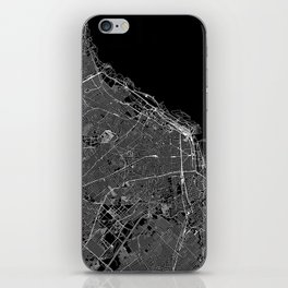 Buenos Aires Black Map iPhone Skin
