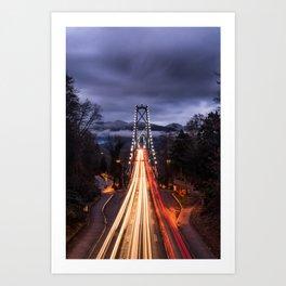 Lions Gate Bridge Art Print