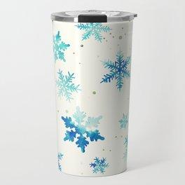ICY BLUE SNOWFLAKE PATTERN Travel Mug