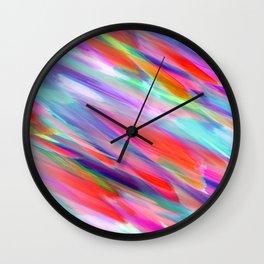 Colorful digital art splashing G399 Wall Clock