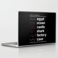 physics Laptop & iPad Skins featuring Know your Waveforms by Florent Bodart / Speakerine