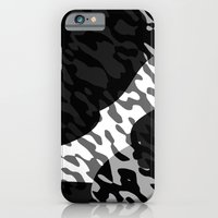 Black gray and White Camouflage Abstract Slim Case iPhone 6s