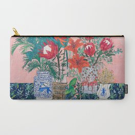 The Domesticated Jungle - Floral Still Life Carry-All Pouch