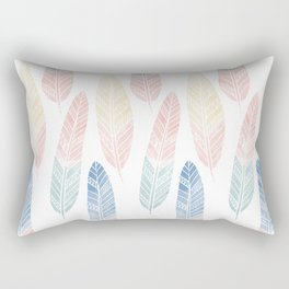 Cute boho pattern with colored feathers Rectangular Pillow