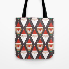 Santa and Rudolph II (Patterns Please) Tote Bag