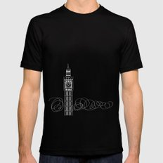 London by Friztin Black Mens Fitted Tee MEDIUM