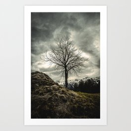 Against the Wind Art Print