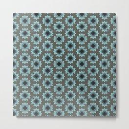 Flowers Pansy soft blue  Metal Print