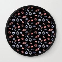 Casino Chips : TM17071 Wall Clock