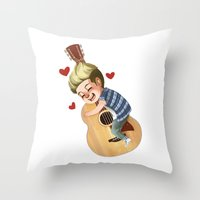 niall Throw Pillows featuring Niall LOVE by RUBYCURLS