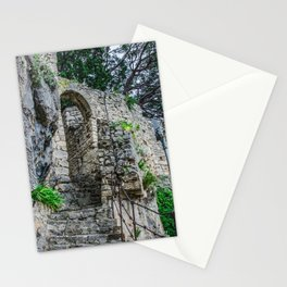 Stone stairs in rock Stationery Cards