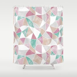 Abstract graphic pattern. Fun triangles. Shower Curtain