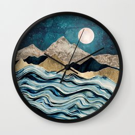 Indigo Sea Wall Clock