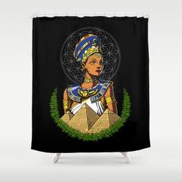 Egyptian Queen Nefertiti Egypt Goddess Shower Curtain