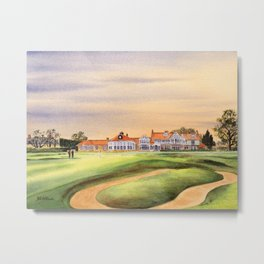 Muirfield Golf Course 18th Green Metal Print