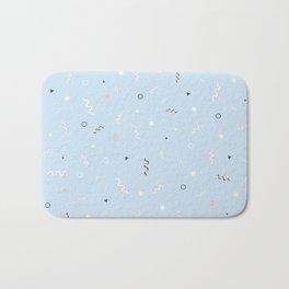 Messy Pattern_Blue Version Bath Mat