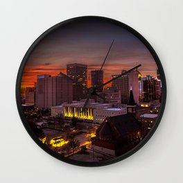 OKC MORNING GLOOM Wall Clock