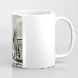Northern Illinois University Castle - Black and White Coffee Mug