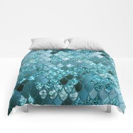 Mermaid Glitter Scales #4 #shiny #decor #art #society6 Comforters