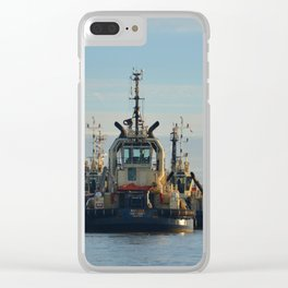 Tug Boat In The Evening Light Clear iPhone Case