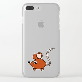 Drawn by hand a Friendly little mouse for children and adults Clear iPhone Case