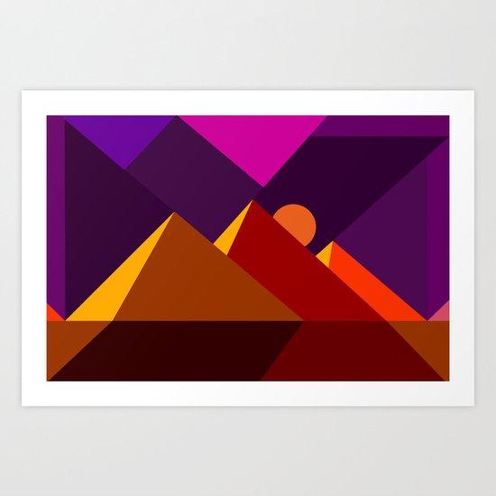 Road to Giza Art Print