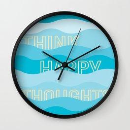 Happy Waves Wall Clock