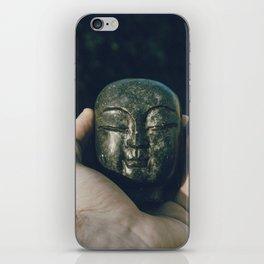buddha head in hand iPhone Skin