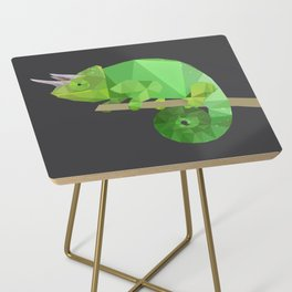 Low Poly Chameleon Side Table