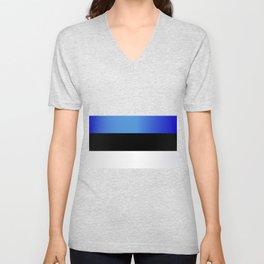 Flag of Estonia Unisex V-Neck