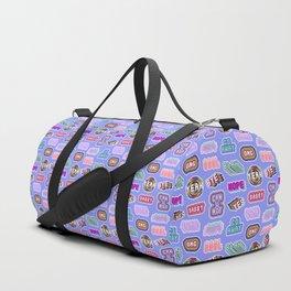 Fun patches / blue Duffle Bag