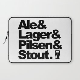 Ale and Lager and Pilsen and Stout Laptop Sleeve
