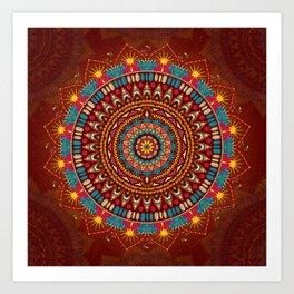 Crystalline Harmonics - Tribal Art Print