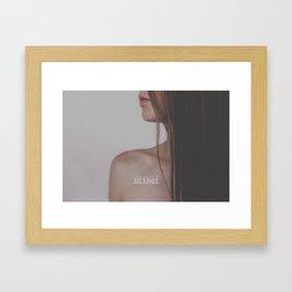peace in the silence Framed Art Print