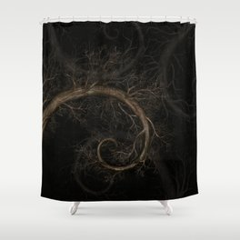 Golden spiral Tree #1 Shower Curtain