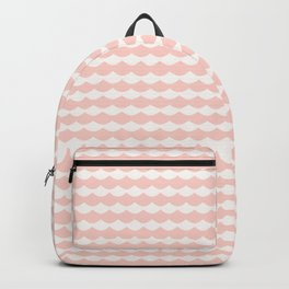 Geometrical modern abstract pink ivory scallope pattern Backpack