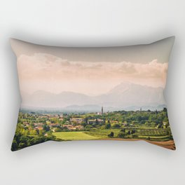 sunny spring day in the countryside Rectangular Pillow
