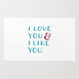 I love you & I like you -- Blue Rug